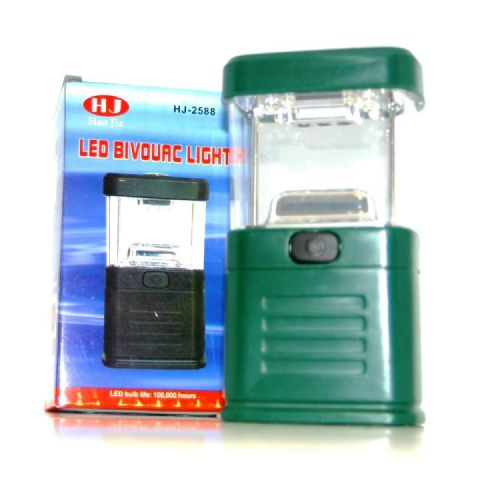 LED Bivouac Lantern Light - Mini Torch for Camping Hiking Fishing (Red Purple Green Orange or Black)